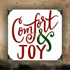 Comfort and Joy | decorated canvas | wall hanging | wall decor | Christmas quote