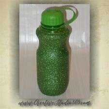 GREEN Glitter Water Bottles - 28oz bottle - bpa free - cute water bottle - girly