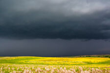 Spring Photography Art Print - Picture of Stormy Sky Over Oklahoma Prairie
