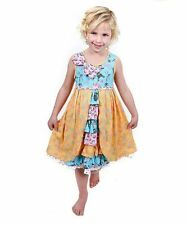 Jelly The Pug Girls 1855 Spring in Paris Floral Hannah Knit Ruffle Dress Size 3T
