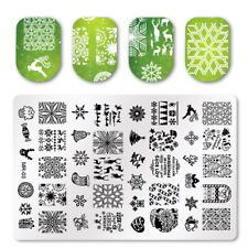New DIY Nail Art Stamping Plate Xmas Image Stamp Template