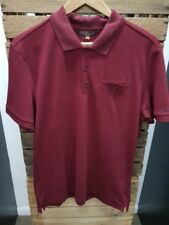 MEN'S BEN SHERMAN SHORT SLEEVE BURGUNDY '0048282' POLO SHIRT ALL SIZES MED-4XL