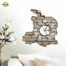 Creative 3D Sticker Wall Clock Decals Breaking Cracking Wall Sticker Home Wall D