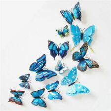 12Pcs/Lot DIY 3D Butterfly Wall Stickers Home Decor for Living Room Bedroom Kitc