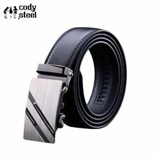 Cody Steel PU Leather Mens Belts Automatic Buckle Fashion Belts For Men Business