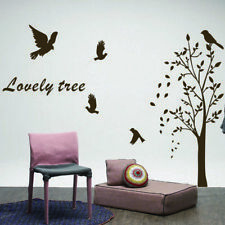 Large Vinyl Art Landscape Wall Stickers Lovely Trees & Birds Decal Mural Decor