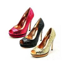 Ladies glittery High heel open toe party shoes