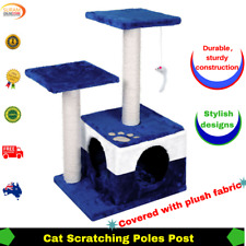 Pet Cat Tree Scratching Pole Post tree Home House Condo Furniture stylish fabric