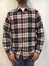 River Trail Men's Medium Weight Flannel Plaid Shirt With Pocket