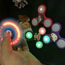 LED Cartoon Hand Spinner EDC Adults Anti Stress Rotary Revolving ADHD Toys