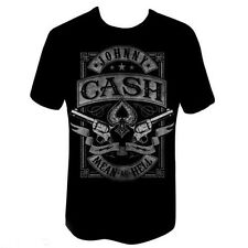 MEAN AS HELL ~ JOHNNY CASH S/Sleeve Black T-SHIRT ~Size M L XL 2XL  ...NEW
