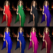 V Neckline Long Prom Evening Dresses Party Formal Pageant Engagement Gowns