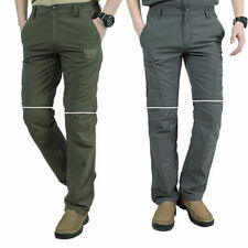 Mens Outdoor Quick Dry Zip Off Leg Convertible Hiking Fishing Pants Trousers NEW