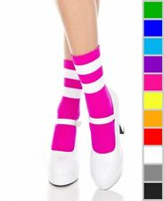 New Music Legs 526 Striped Ankle High Socks