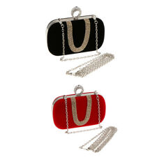 Women Ladies Chain Handbag Party Prom Rhinestone Wedding Evening Clutch Purse