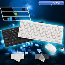 Ultra Thin 2.4GHz Wireless Keyboard + Mouse USB Receiver Kit for Laptop PC