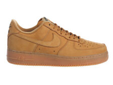 NEW MENS NIKE AIR FORCE 1 LV8 BASKETBALL SHOES TRAINERS FLAX / FLAX / GUM LIGHT