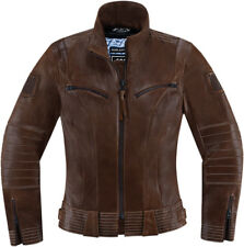 ICON 1000 FAIRLADY Leather Motorcycle Riding Jacket (Brown) Choose Size