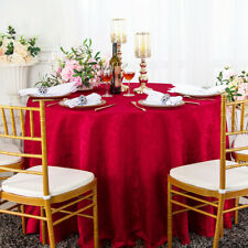 "Wedding Linens Inc. 90"" Round Damask Jacquard Polyester Tablecloths Table Cover"
