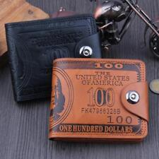 Men's Trifold Purse Wallet Credit/ID Card PU Leather Holder Slim Gift Coin Case