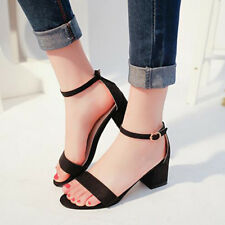 1 Pair Korean Style Gladiator Shoes Women's Sandles Thick Heel