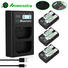LP-E6 Battery For Canon EOS 80D 6D 7D 70D 60D 5D Mark II III & Dual USB Charger