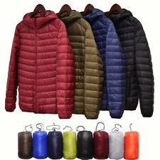 Men's Packable Ultralight Hoodie Down Jacket Winter Hooded Puffer Outerwear Coat
