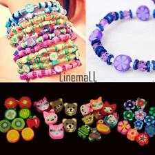 100 PCS Clay Beads DIY Slices Mixed Color Fimo Polymer Clay LM