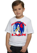 Sonic The Hedgehog Birthday Shirts Shirt T-Shirt Party Personalized Decorations