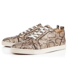 Christian Louboutin GONDOLIERE ORLATO Glitter Snake Low Top Sneakers Shoes $845