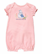 NWT Gymboree Peter Rabbit Pink Rabbit Romper Baby Girl Some Bunny Loves me