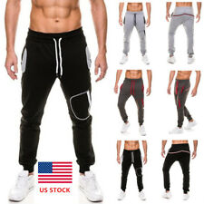 Mens Hip Hop Winter Warm Sports Pants Casual Outdoor Gym Stretch Party Trousers
