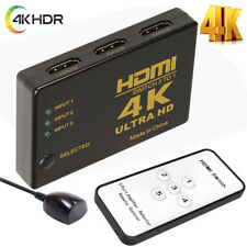 HDMI Switch 5 Port 1080p 4K Switcher Splitter IR Remote Selector For PS3 HDTV