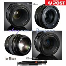 Yongnuo YN 100mm 50mm 40mm 35mm EF MF / AF Prime Fixed Lens for Nikon Camera AU