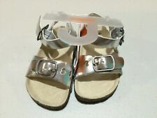 NWT Gymboree Fruit Punch Silver Sandals Shoes Girls 4,5,6,8,10,11