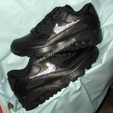 Nike air max 90's in Black - Brand New & customised using Swarovski Crystals
