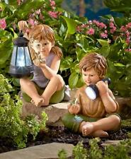 Solar Lighted Children - Girl and/or Boy Statue Patio Yard Garden Home Decor New