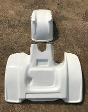 NEW KAWASAKI TECATE 3 84-85 FRONT AND LOW PROFILE REAR FENDER SET WHITE ATV6FR