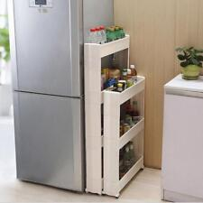 Gap Storage Shelf For Kitchen Or Bathroom Movable 3 And 4 Layers Rack Save Space