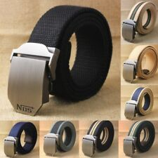 Men Women Belt Casual Automatic Buckle Top Quality Stylish Waist Leather Canvas