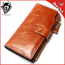 2018 New Design Fashion Multifunctional Purse Genuine Leather Wallet Women Long: