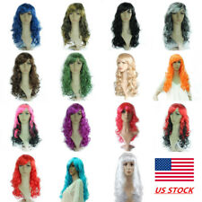 NEW Women Fashion Lady Anime Long Curly Wavy Hair Party Cosplay Full Wig 50CM