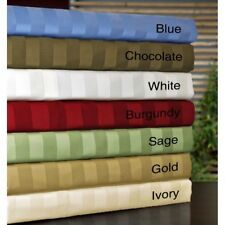 King 1000TC Egyptian Cotton Sheet Set/Duvet/Fitted/Pillow Bright Striped Colors