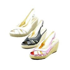 Ladies Peep toe, sling back wedge heel sandals / Shoes
