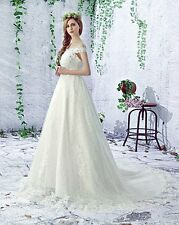 New Lace Wedding Dress any plus size custom made Bohemian Bridal Gown pregnant