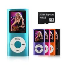 Compact Digital 64 GB Mp3/Mp4 Player Portable Photo Viewer Voice Recorder Fm New
