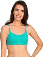 NEW BRANDED JOCKEY TEAL COLOR COTTON SOFT CUPS BRA GIVE NICE LOOK NATURAL SHAPE