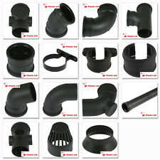 """Cascade 110mm/4"""" Cast Iron Style PVC Soil & Vent Pipe and Fittings in Black"""