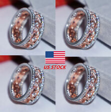Size 6,7,8,9, Fashion Women Floral Diamonds Engagement Rings Party Wedding Gifts