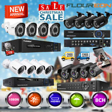 1TB HDD 8CH 3000/2000TVL 1080N DVR Security Camera CCTV Surveillance System Kit